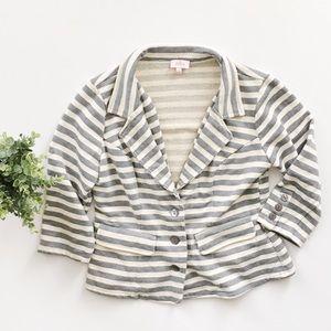 Pixley Stitch Fix Striped Cotton Blazer Jacket